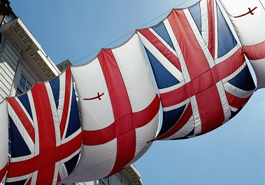 British and English flags